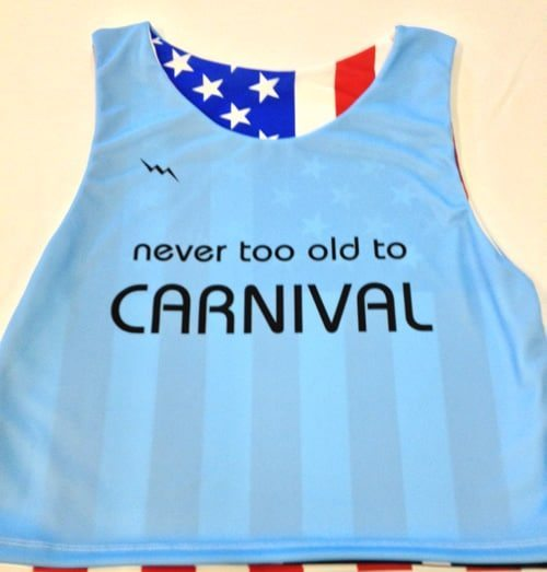 never too old to carnival pinnies