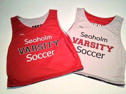 soccer pinnies - seaholm varsity soccer pinnies