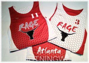 red sublimated lacrosse uniforms