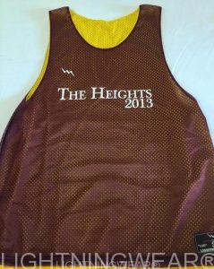 Maroon Basketball Pinnies