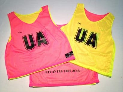 ua relay for life pinnies