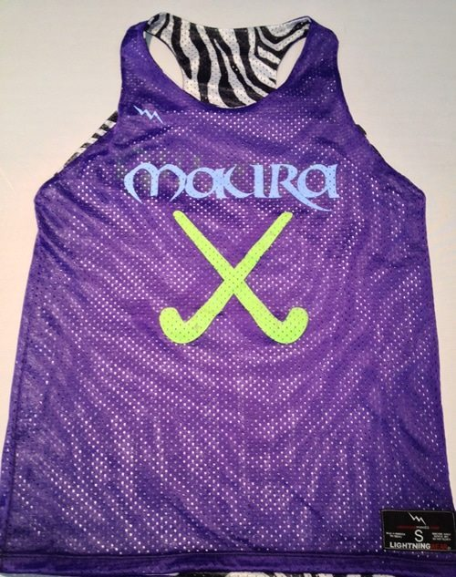 zebra field hockey pinnies