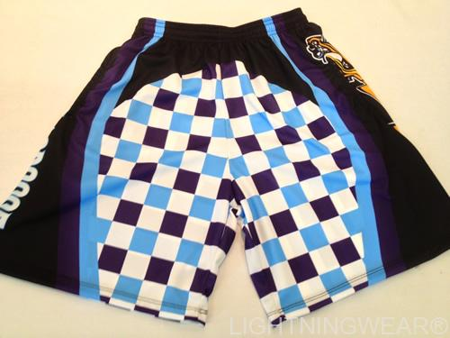 custom lacrosse shorts checker