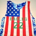 Eagles American Flag Lacrosse Jerseys