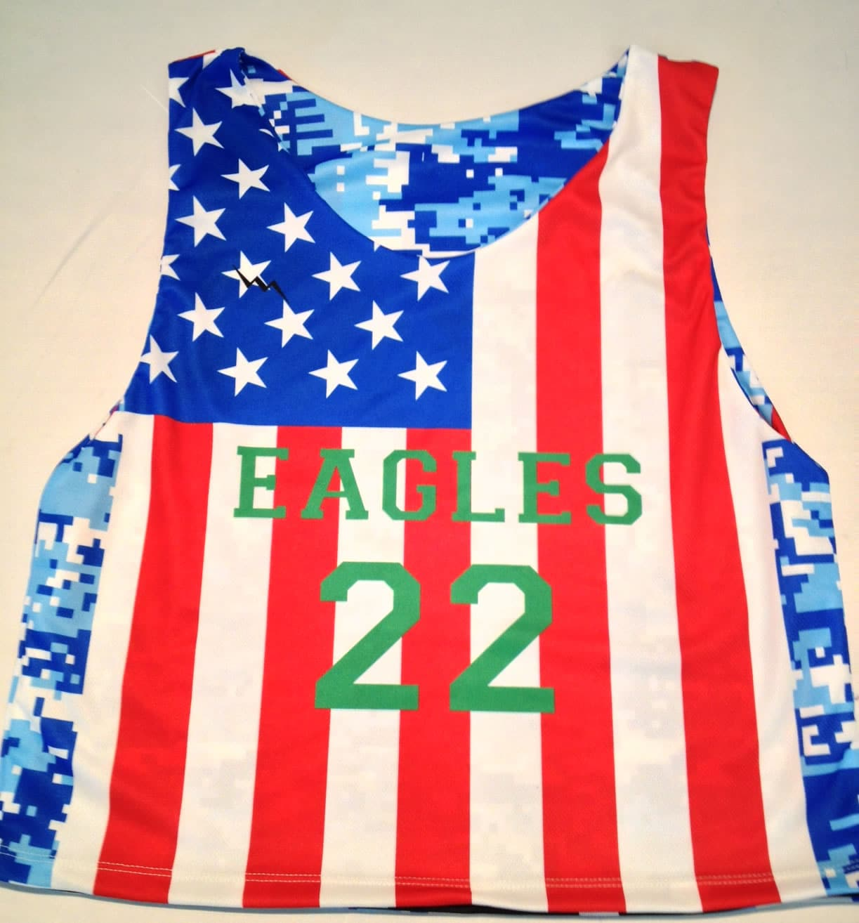 eagles american flag pinnies