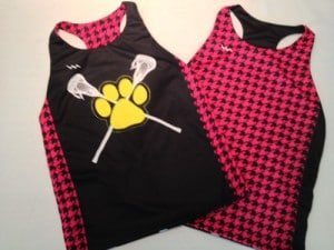 girls sublimated lacrosse jersey