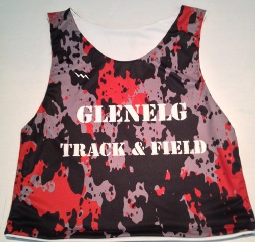 glenelg track and field pinnies