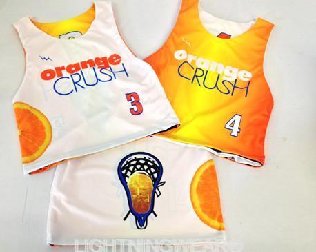 orange crush custom lacrosse jerseys