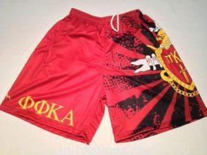 custom fraternity shorts