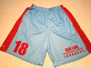 red line lacrosse shorts - sublimated lax shorts