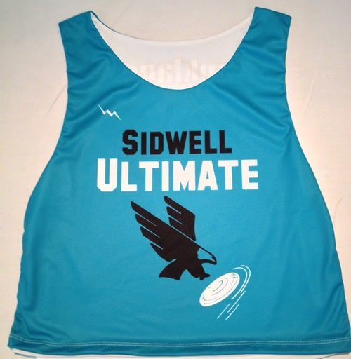 sidwell ultimate frisbee pinnies