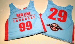 light blue sublimated lacrosse uniforms