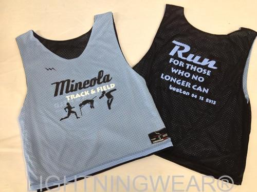 track and field pinnies