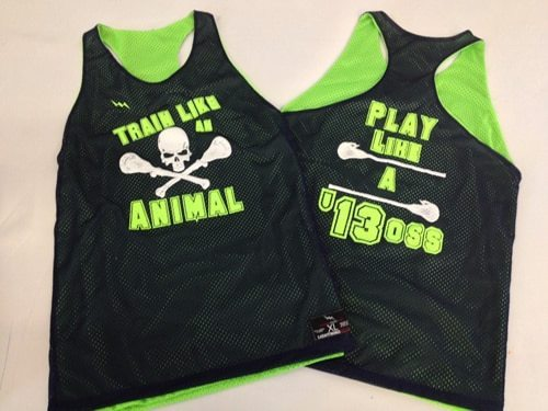 train like an animal pinnies
