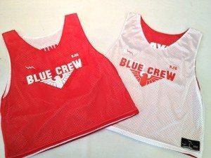 blue crew pinnies - lacrosse pinnies