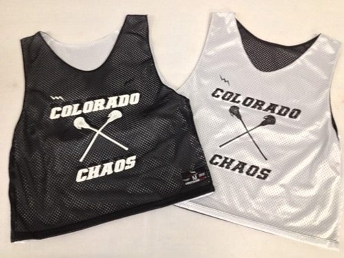 colorado Chaos lacrosse pinnies