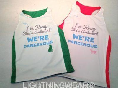 girls racerback pinnies