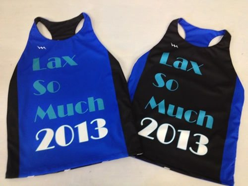 lax so much racerback pinnies