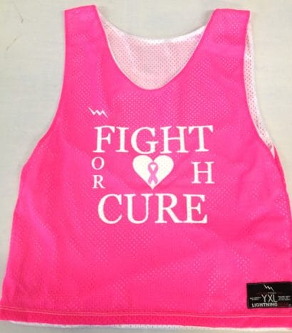 pink pinnies - lacrosse pinnies