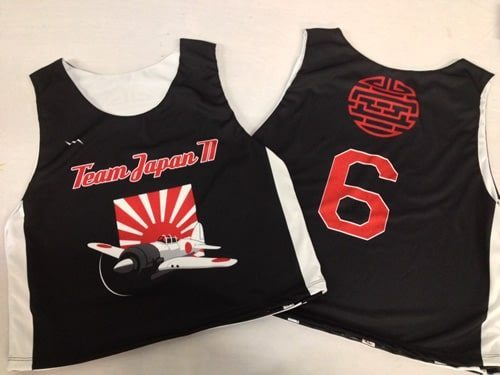 team japan lacrosse pinnies