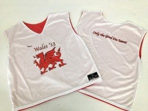 wales lacrosse pinnies