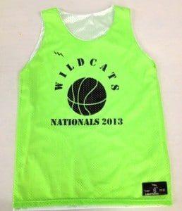 girls basketball reversibles