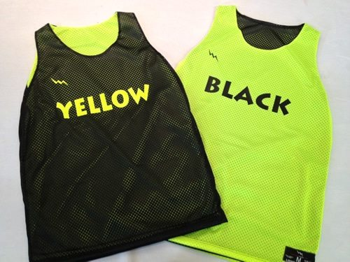 yellow camp pinnies