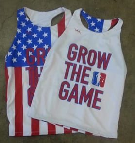 Girls American Flag Jerseys