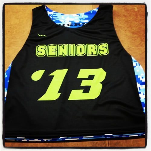 seniors lacrosse pinnies