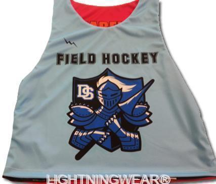 custom field hockey pinnies
