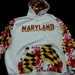 Maryland Flag Sweatshirt – Custom Hooded Maryland Sweatshirt