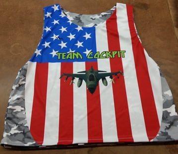 Team Cockpit American Flag Pinnies - Custom American Flag Pinnies