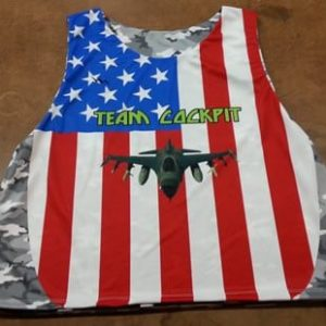 team cockpit american flag lacrosse pinnies