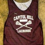 Capitol Hill Lacrosse Pinnies – Custom Maroon Lacrosse Jerseys