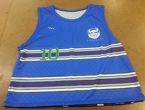 single ply lacrosse pinnies