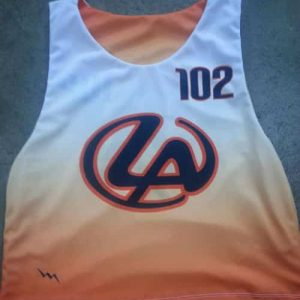 design your own dye sublimated lacrosse pinnies