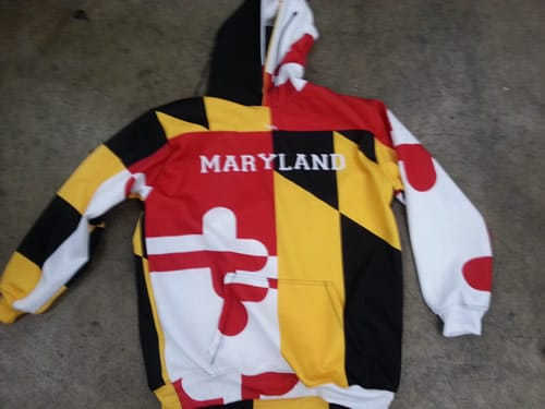 maryland flag sweatshirts