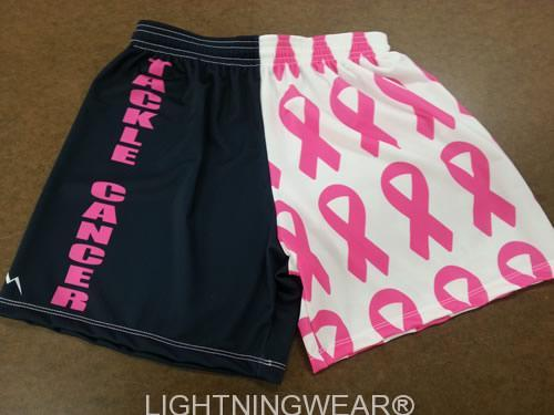 tackle cancer lacrosse shorts
