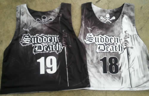 team lacrosse pinnies