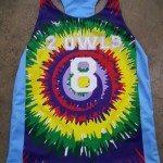 Girls Tie Dye Racerback Pinnies