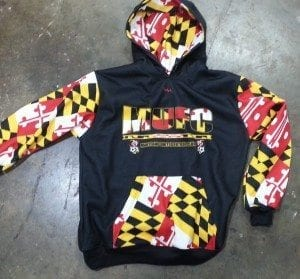 Maryland soccer sweatshirts - maryland flag sweatshirts