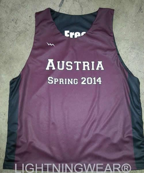 austria custom basketball pinnies