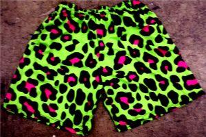 cheetah print lacrosse shorts