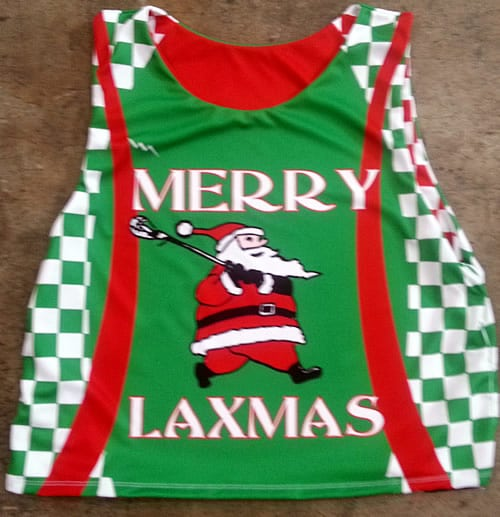christmas lacrosse pinnies