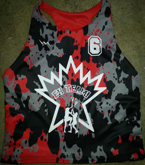 paint splatter lacrosse pinnies