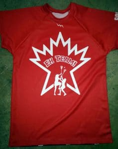red lacrosse shooter shirts