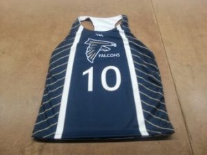 sublimated racerback lacrosse uniforms