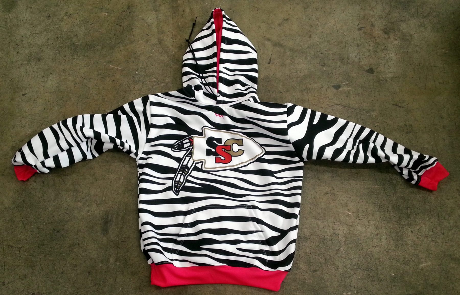 girls hooded lacrosse sweatshirts