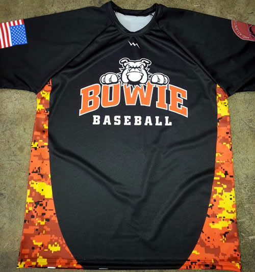bowie baseball shooting shirts