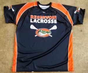 gators sublimated lax shooting shirts